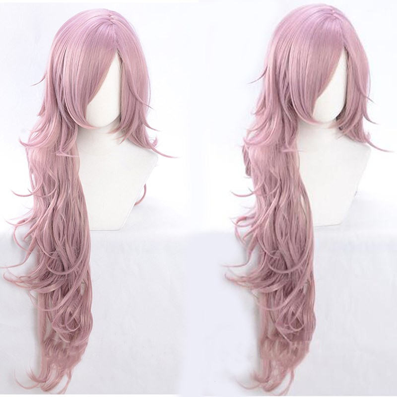 SINoALICE Cinderella Despicable Long Curly Wave Full Hairs Anime Cosplay Wigs Halloween Mixed Purple