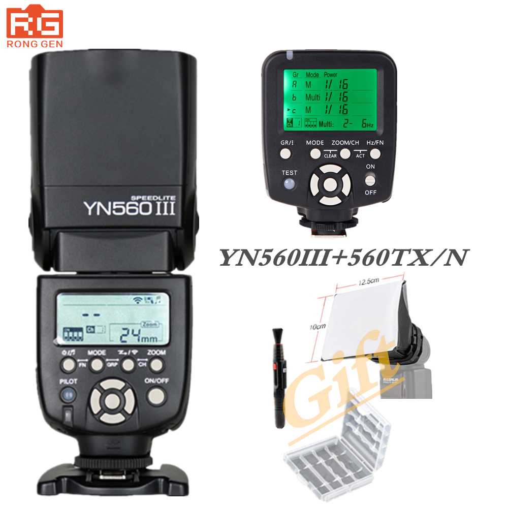 YN-560III YN 560 III Flash Speedlite +Manual YN-560TX YN 560 TX N Wireless Controller For Nikon D3000 D5000