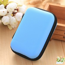 bue Mini Hold Case Storage Case For Headphones Earphone Earbuds Carrying Hard Bag Box Case For Keys Coin Travel Earphone Acc(China)
