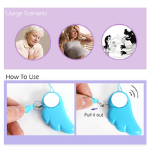90DB Angel Wings Personal Attack/Anti Rape Alarm Self Defense Supplies For Girls Or Kids Protection Safety- Personal Security