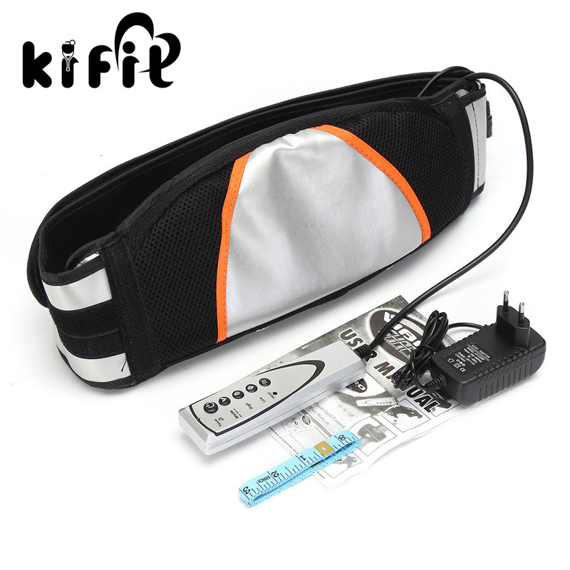 KIFIT Multifunctional Vibro Shape Slimming Massage Belt Machine Heat Function Fat Burning Weight Loss Health Care Tools