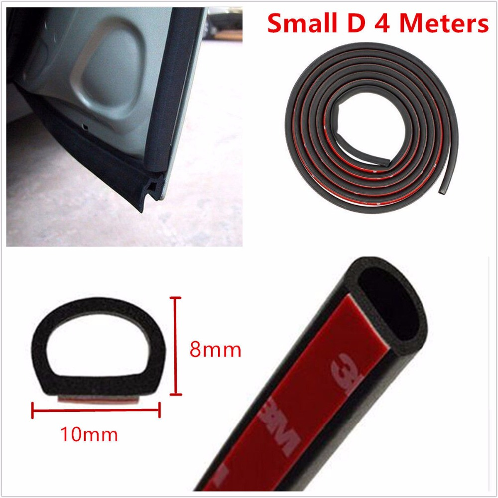 4 meter small d 10mm 8mm type 3m car motor door seal strip weatherstrip rubber seal sound. Black Bedroom Furniture Sets. Home Design Ideas