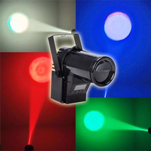LED Spotlight Stage Lights DMX512 RGB Colorful Glass Ball Wedding Rotate Effects AC110V 220V Bar Disco