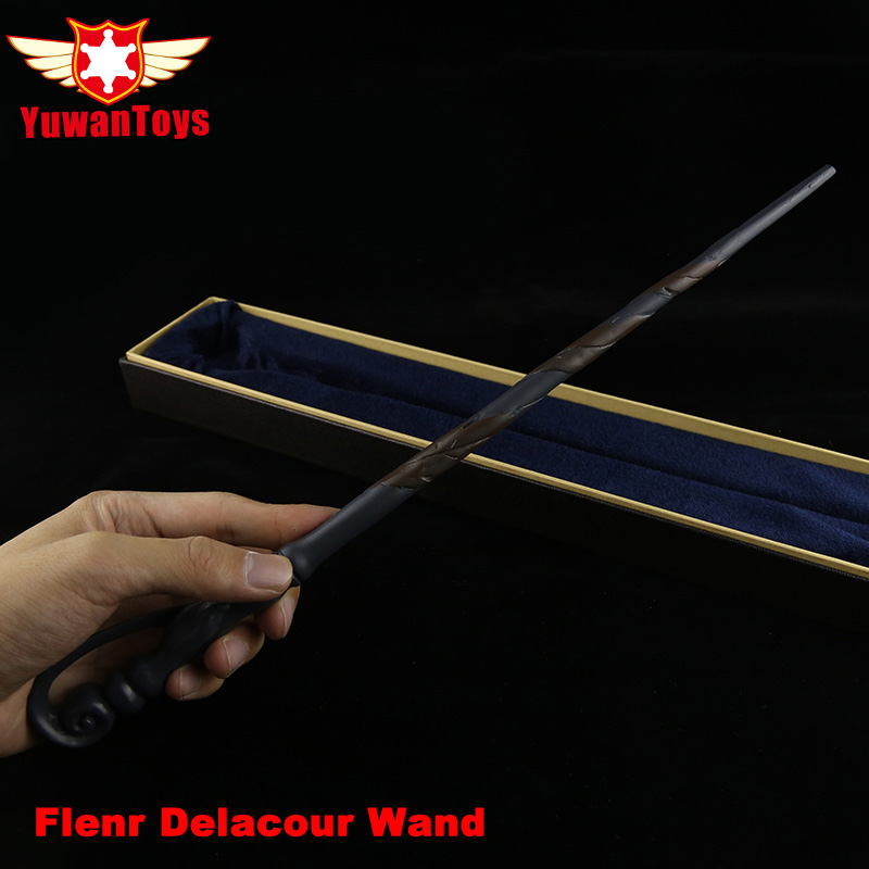 New Animation Movie Harry Potter Flenr Delacour Metal Core By Hand Painted Magic Wand In Box Perfect Movie Theme Cos Props
