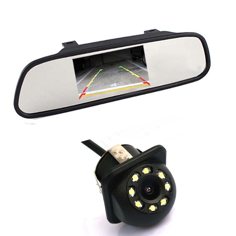 BEMTOO 12V Universal 4 3 Inch Color Tft Lcd Monitor Car CCD Rear View Camera 170