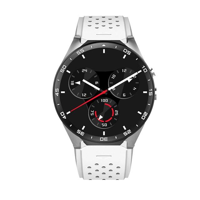 Оригинальный Kingwear KW88 3 г Смарт-часы ОС Android 5.1, 4 ядра поддержка 2.0MP Bluetooth сим-карты Wi-Fi GPS сердечного ритма Мониторы