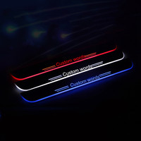 free shipping!!!2X LED custom Moving Welcome Lights Door Sill Scuff Plate Pedal for Chevy Malibu