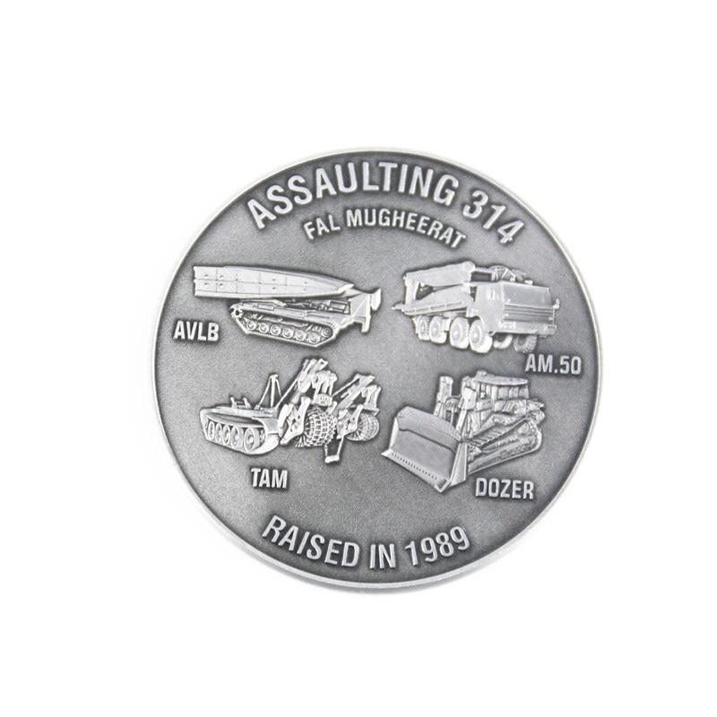 Manufacturer custom military silver coin electroplating challenge k200289