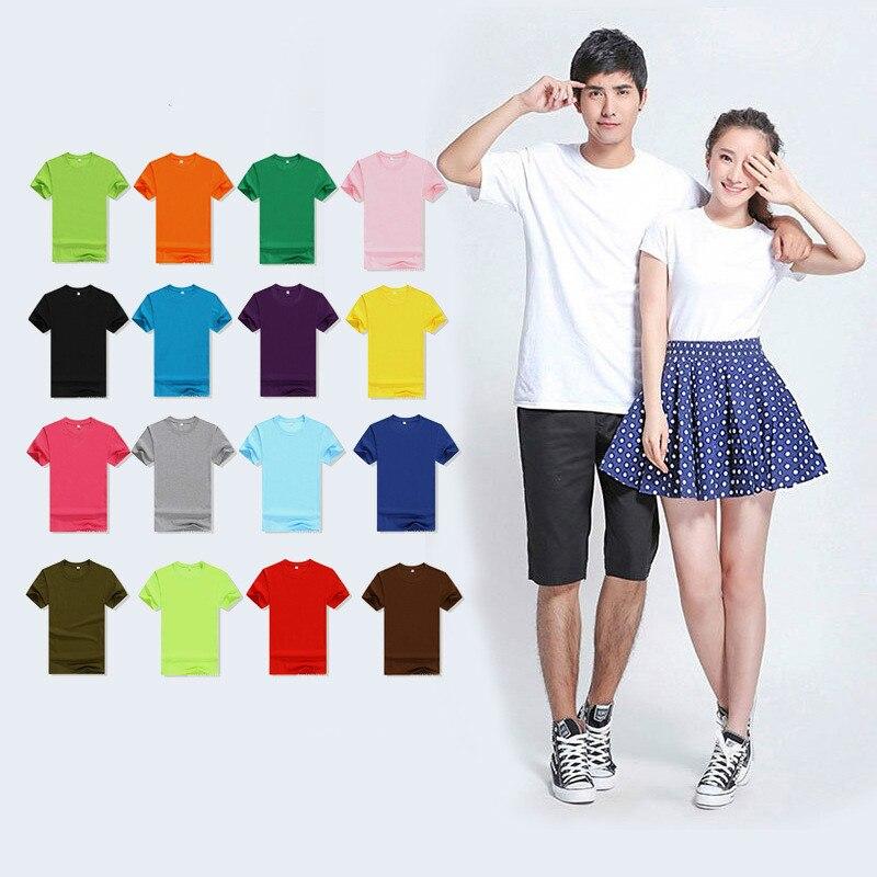 Мужская футболка с короткими рукавами, Повседневная Эластичная Однотонная футболка из хлопка, 18 цветов, для лета, 2019