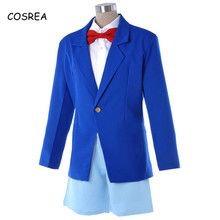 Detektiv Conan Kostüm Blau Männer Hemd Langarm Hals Krawatte Mantel Shorts Anzüge  Cosplay Schuluniform(China 95df7a2126