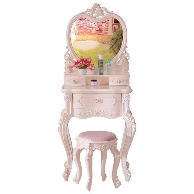 Set Makeup Chambre Toaletka Mesa De Maquillaje Vanity European Wooden Table Penteadeira Bedroom Furniture Korean Dresser