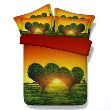 3D Love Tree Bedding sets quilt duvet cover set bed in a bag sheets bedspread linen Cal King Queen size full double twin 4pcs все цены