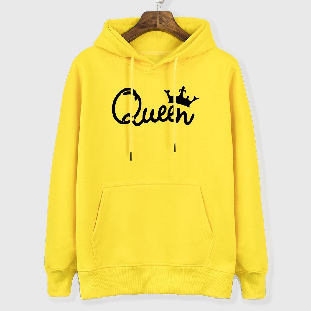 Women's Hoodies For Autumn Winter Coat 2018 New Hot Sale Streetwear Brand Clothes QUEEN Crown Hoody Female Sweatshirts Kpop Tops