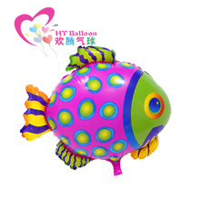22inch Colorful Cute Dots Fish Sea Creatures Tropical Fish Balloons Helium Balloon Flying Fish Kids Toy Birthday Party Deco