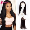 360 Lace Band Frontal Closure Brazilian Straight Hair Ear To Ear Lace Frontal Closures With Baby Hair 360 Lace Frontal Closure