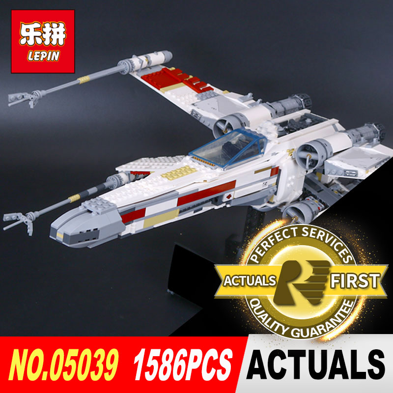 LEPIN 05039 STAR classic the Red Five X Starfighter wing Compatible model legoed 10240 for Children Holiday gifts WARS