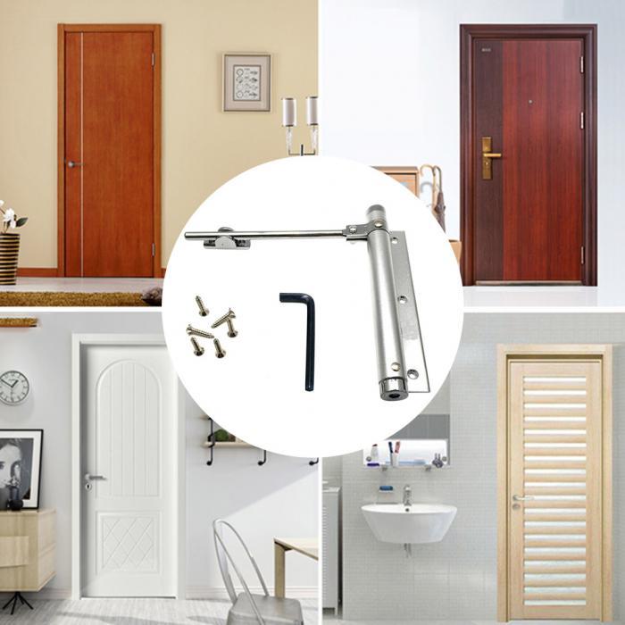 Пневматический пружинный Автоматический Дверной доводчик, бесшумный дверной ограничитель, регулируемый CLH@ 8