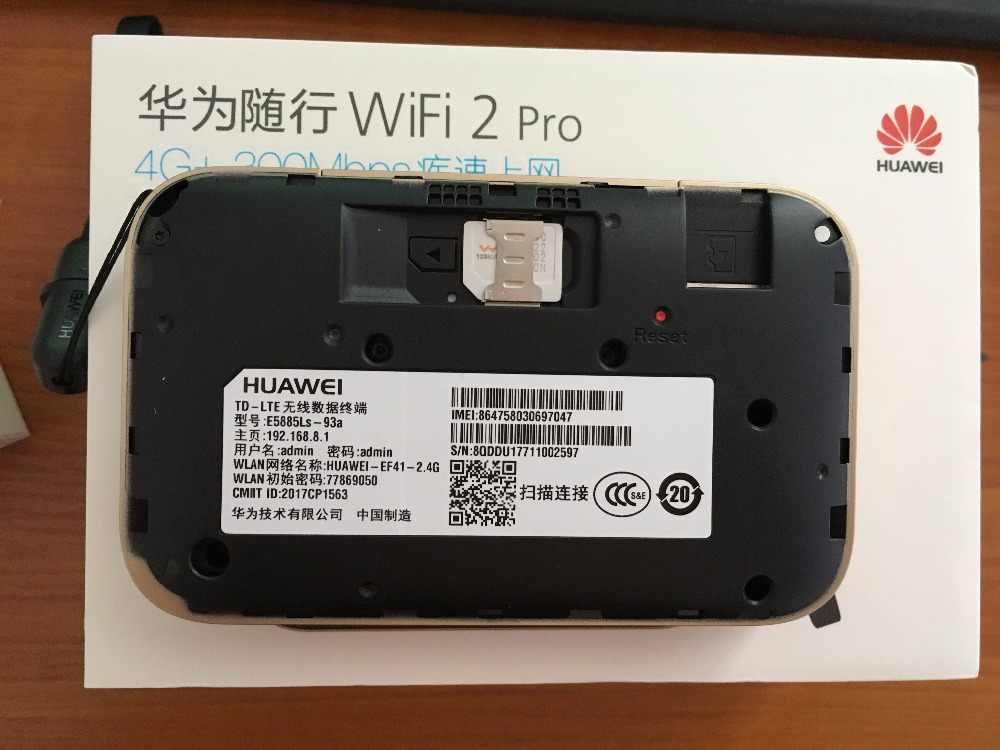 Desbloqueado Huawei WiFi 2 Pro E5885 E5885Ls-93a Router inalámbrico de bolsillo móvil WiFi con puerto Ethernet 6400mAh banco de energía PK e5770