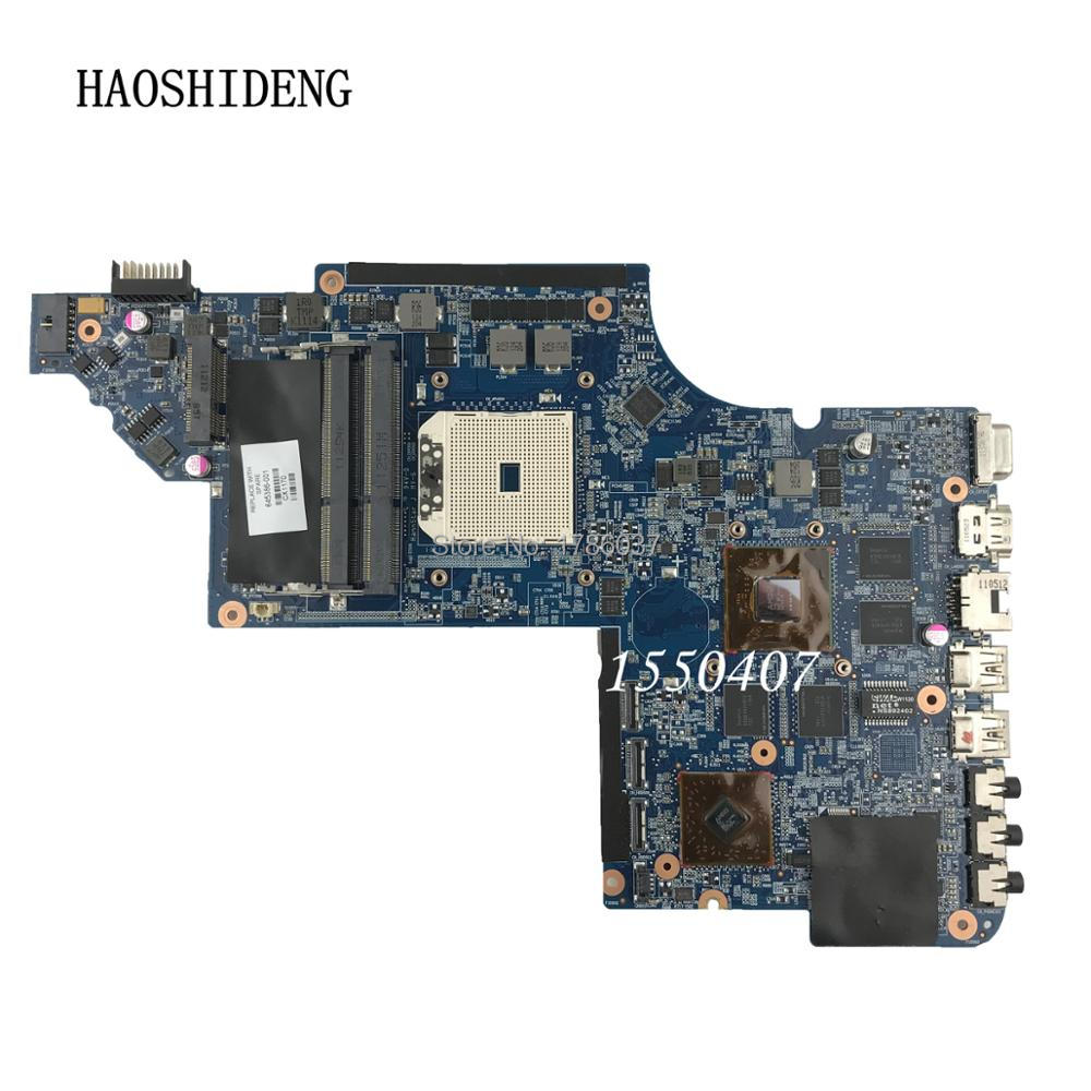 HAOSHIDENG 645386-001 mainboard for HP PAVILION DV7 DV7-6000 laptop motherboard with A70M DSC HD6750/1G .All fully Tested! hot for hp dv7 6000 series 665990 001 laptop motherboard fully tested all functions work good