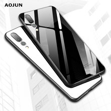 9H Tempered Glass Back Cover For Huawei P20 P20 Lite Nova 3E Soft Silicone Protective Clear Case for For Huawei P20 Pro(China)