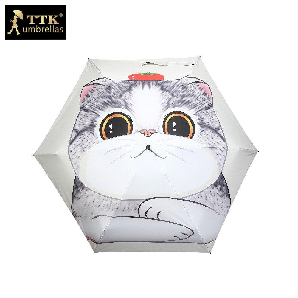 enfants parapluie femelle 5 fois parapluie chinois mignon chat chien - Marchandises pour la maison - Photo 1