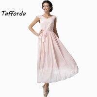 New Design Art Elegant Pink Nude Bow Bandage Holiday Dress High Quality New Women S Clothing