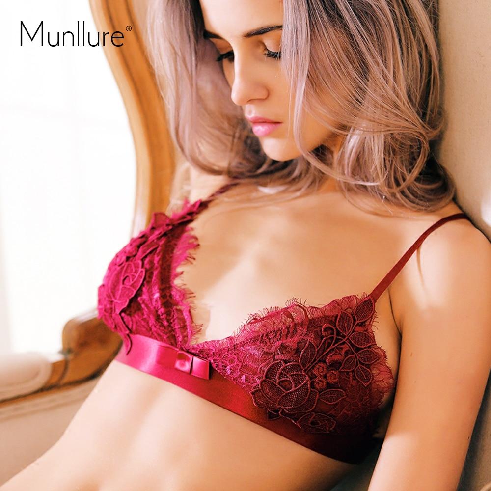 Munllure 2017 bez rukávů krajka noční košile hedvábí sexy podprsenka sada květinové dámské pyžamo šortky domácí prádlo spodní prádlo dámské spodní prádlo sada