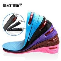 NANCY TINO Furtif Réglable Augmenté Semelles Pour Hommes Femmes Chaussures Pad Augmentation Hauteur Semelle Noir Coussin D'air Ascenseur Tapis de Talon