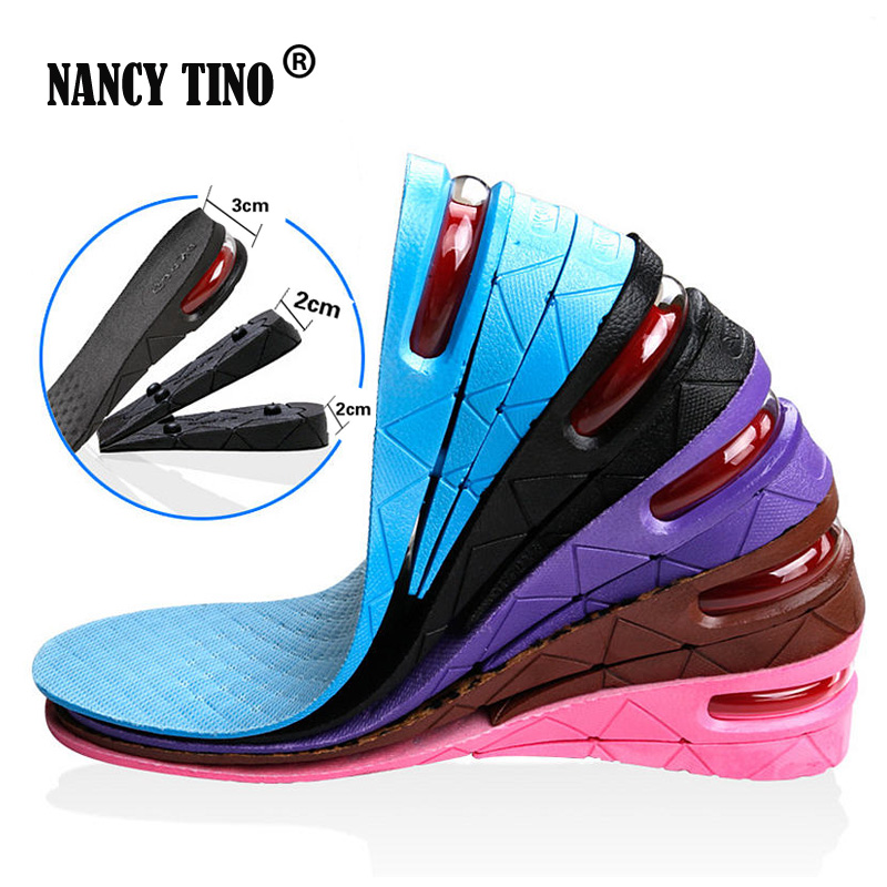 NANCY TINO Stealth Adjustable Increased Insoles For Men Women Shoes Pad Increase Height Insole Black Air Cushion Lift Pads Heel nancy кукла нэнси в голубой юбке плетение косичек nancy