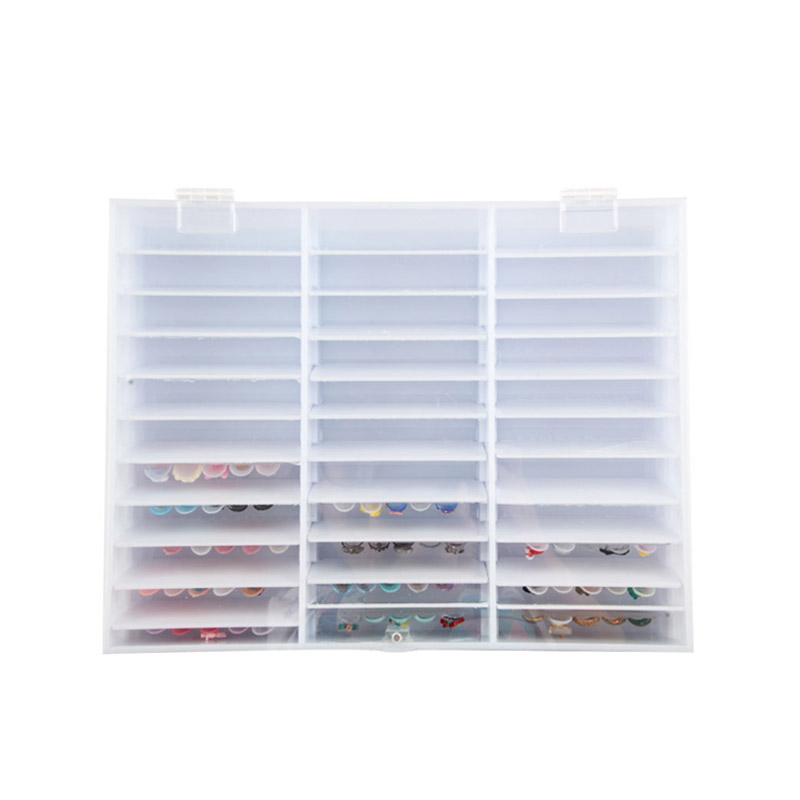 Pro Practice Nail Art Training Tips Display Cards Holder Organizer Storage Box Nail Salon Suplement недорго, оригинальная цена