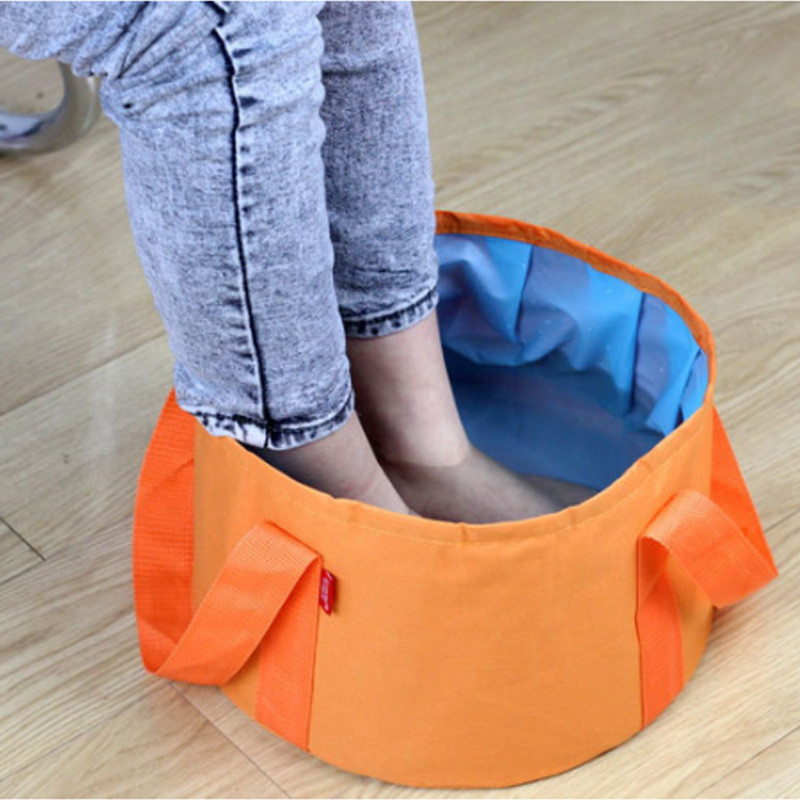 Home Stuff Fishing Equipment Kitchen Items Folding Bucket Washing Bag Water Bucket Camping Washbasin Collapsible Bucket Basin image
