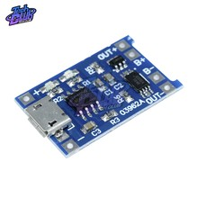 Micro USB 5V 1A 18650 TP4056 Lithium Battery Charger Module Charging Board with Automatic Protection Dual Functions(China)