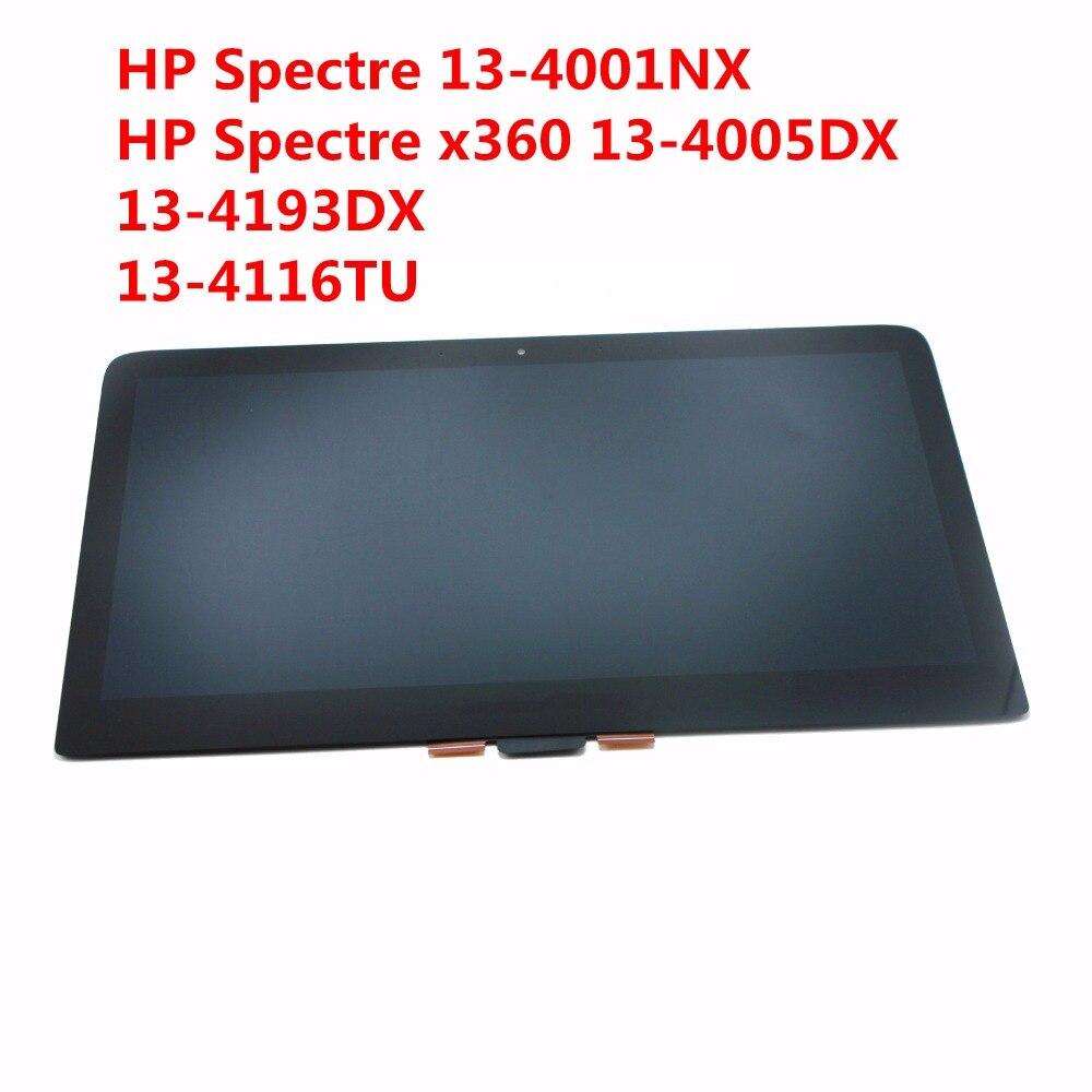 2560X1440 Ordinateur Portable LCD écran Assemblée Pour HP Spectre x360 13-4116TU 13-4005DX LCD affichage 13.3 Écran Tactile digitizer verre