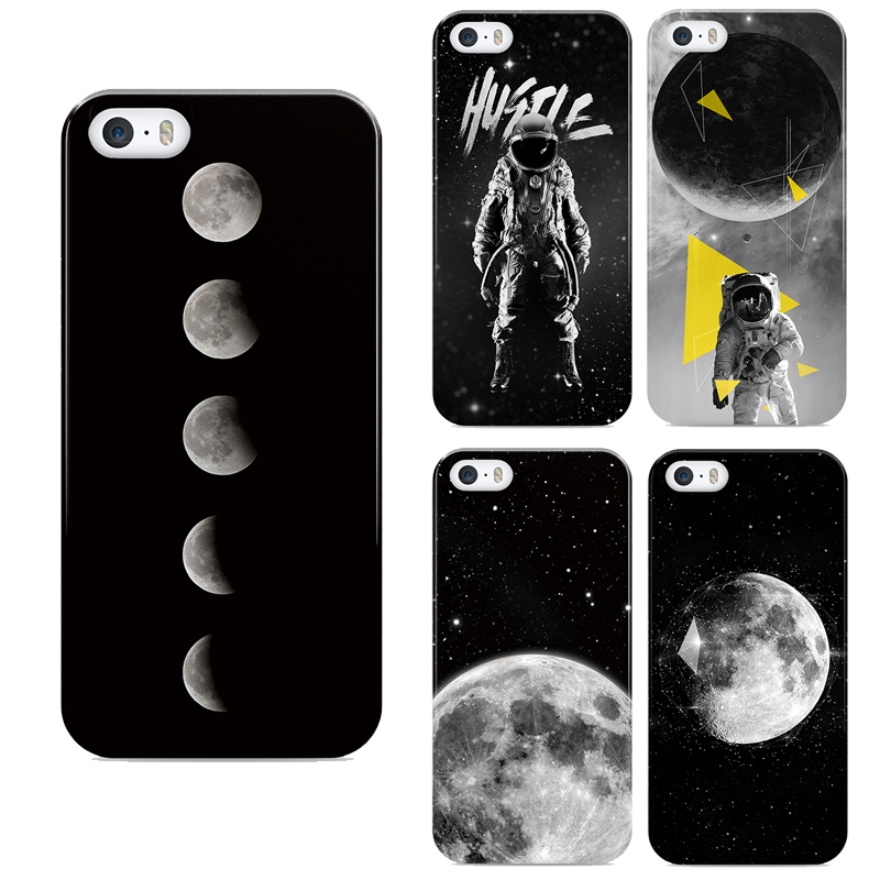 2016 Space Moon Photos for Apple iPhone 6 6s Case Crystal Clear Soft TPU for iPhone 6 / 6s 4.7 Ultra Thin
