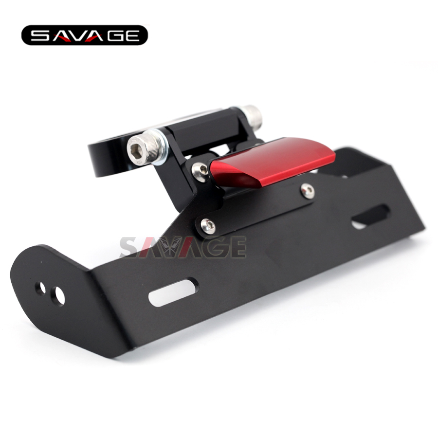 for DUCATI Hypermotard 939/821 Red Motorcycle Tail Tidy Fender Eliminator Registration License Plate Holder Bracket LED Light motorcycle tail tidy fender eliminator registration license plate holder bracket led light for ducati panigale 899 free shipping