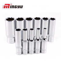 "11PCS 1/4"" Drive Deep Socket Set CRV Hand Tools 6 Point Long Socket Hex Repair Tool"