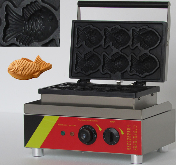 Electric Korea Fish Waffle Maker Cake Maker/ Electrothermal Snack Equipment Baking Machine