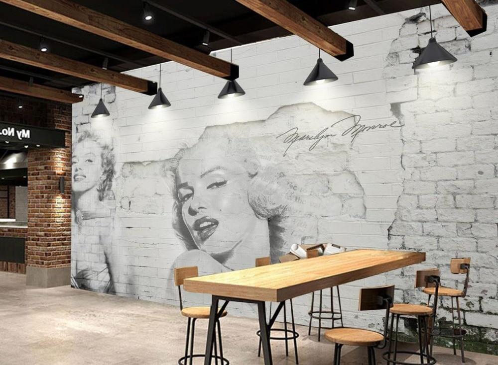 Wallpaper modern 3d custom photo wallpaper nostalgic brick for Decoration cost per m2