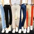 Nuevos Mens venden colores Flaco Joggers Chinos Slim verano Hombres de negocios Pantalones Pantalones Hombre Más El Tamaño 28-38