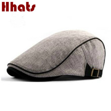 which in shower cotton solid beret women adjustable flat cap