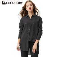 GLO STORY GLO STORY Women Long Sleeve Polka Dot Printed Long Blouse Casual Shirts Fashion Ladies