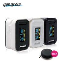 Yongrow Tıbbi Dijital Parmak Pulse Oksimetre Kan Oksijen Doygunluğu PR Monitör SpO2 yüksek Doğru Aile Sağlık YK-81