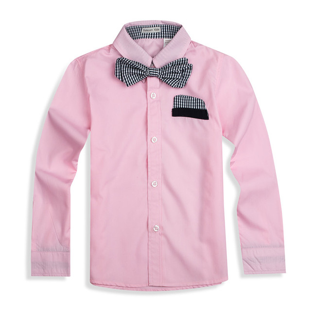 TZCZX-3025  New Children boys Shirts Cotton 100%  With Tie Kids Shirts Clothing