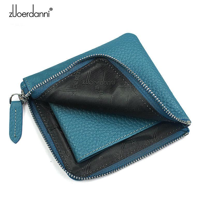 Kvinnors myntväska läder plånbok kvinnor mini plånbok koreanska - Plånböcker - Foto 4