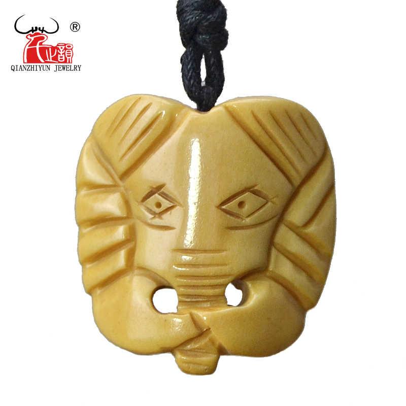 Gx107 Hot Sale Yak Bone Hand Carved Elephant Pendant Personalized Necklace Vintage Style Primitive Tribes Jewelry For Man Cord Choker Elephant Pendantyak Bone Necklace Aliexpress