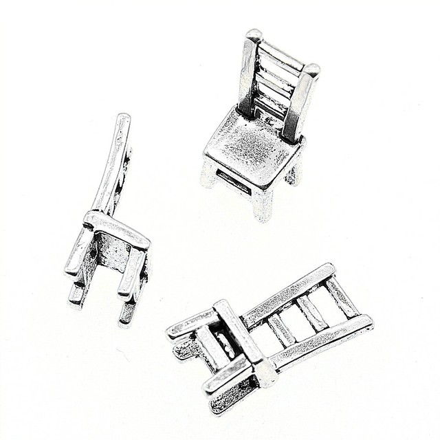 Aliexpress com : Buy 15pcs Charm Chair 3D Chair Pendant Charms For Jewelry  Making Antique Silver 3D Chair Charms 17x7x6mm from Reliable Charms
