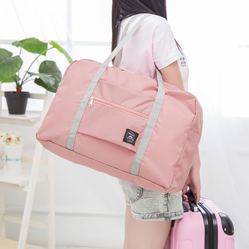 Pouch-Bag Laundry-Storage Luggage Travel-Handbags Folding Shoulder Large-Capacity Waterproof