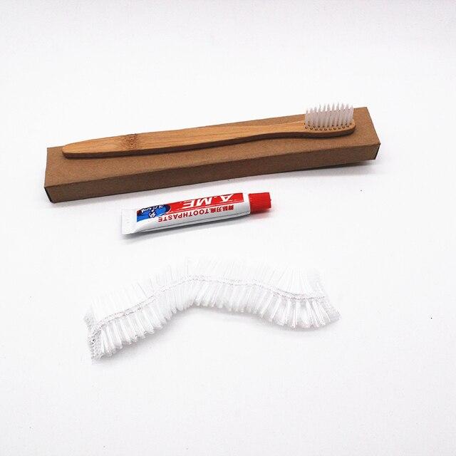 100 piezas de viaje al aire libre cepillo Dental desechable y gorro de baño de pasta de dientes de Hotel limpieza Dental higiene bucal cuidado Dental