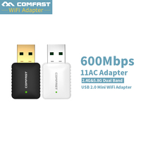 Mini USB WiFi Adapter 600Mbps 802 11ac Wi Fi Adapter 5 GHz Usb Wifi Antena Wifi
