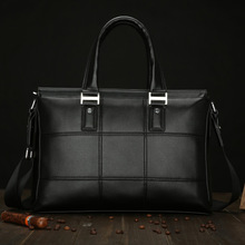 Men New Fashion Briefcase Leather Business Bag